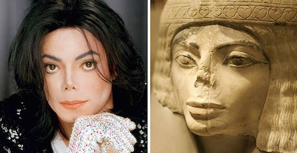 Michael-Jackson-and-this-Egyptian-statue